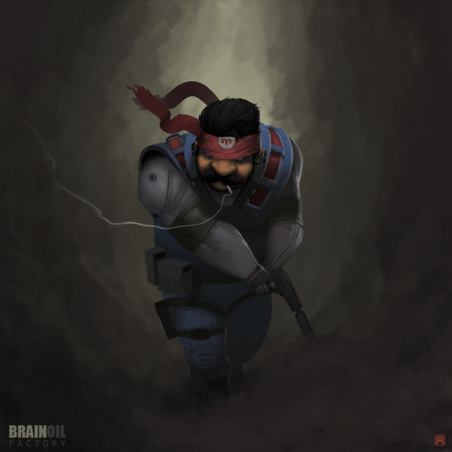 Mario Gear Solid by Bad-Blood