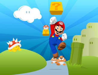 super mario by Bad-Blood