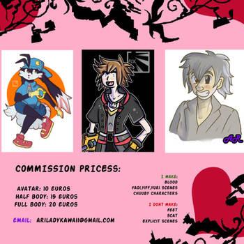 COMISSION PRICESS by ArikoLadyKawaii