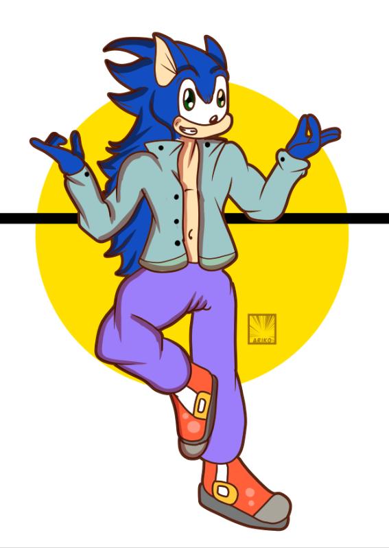 Sonic (Fanart) by ArikoLadyKawaii