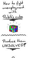 Unemployment fighting - Rubik's cube by Khrinx