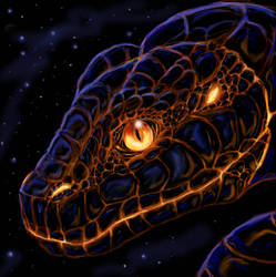 Lava snake head