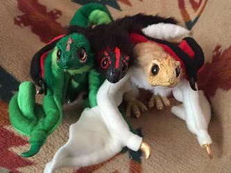 Drogon, Rhaegal, and Viserion by felineflames