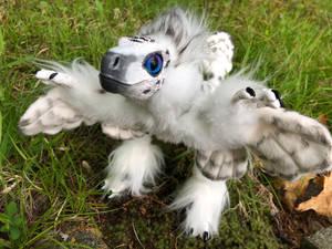 Snowy Owl Raptor Art Doll