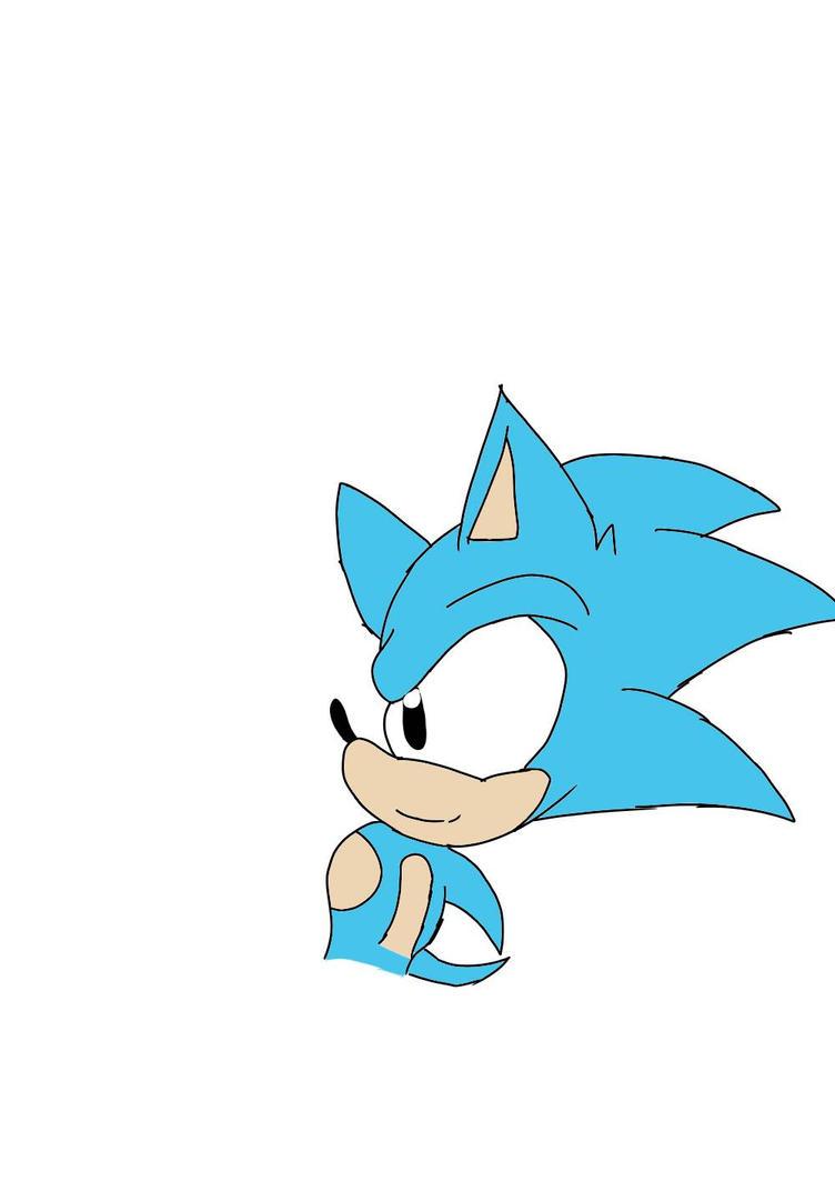 Classic Sonic I drew :D by JosephandSonicteam14