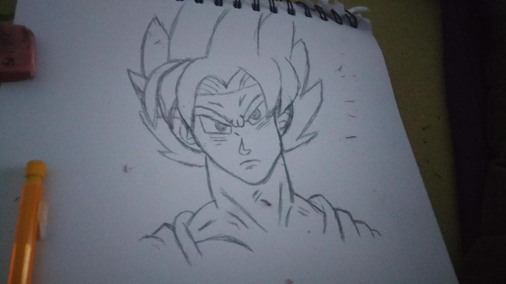 My SSB Goku doodle by JosephandSonicteam14
