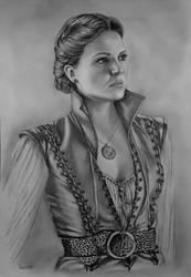 Lana Parrilla (Regina Mills) in pencils - FINISHED by radziczek007