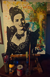 Lana Parrilla / Evil Queen (acrylics) by radziczek007