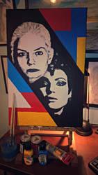 Emma Swan/Regina Mills (Swan Queen Pop-Art) by radziczek007