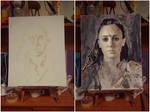 Lexa (Alycia Debnam Carey) painting...