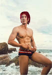 Free! - Rin Matsuoka Underwear In Beach Cosplay