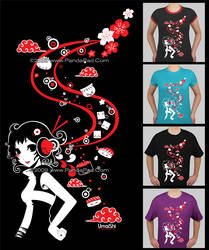 PandaPad Tee: Asian Flavour by GenevieveGT