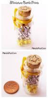 Miniature Bottle Prints by GenevieveGT