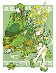 Green Tea Under the Jade Sky by GenevieveGT