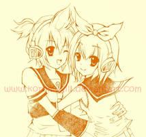 Vocaloid Rin and Ren by KoromoFujiwara