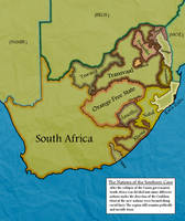 Balkanised South Africa - map by Neethis