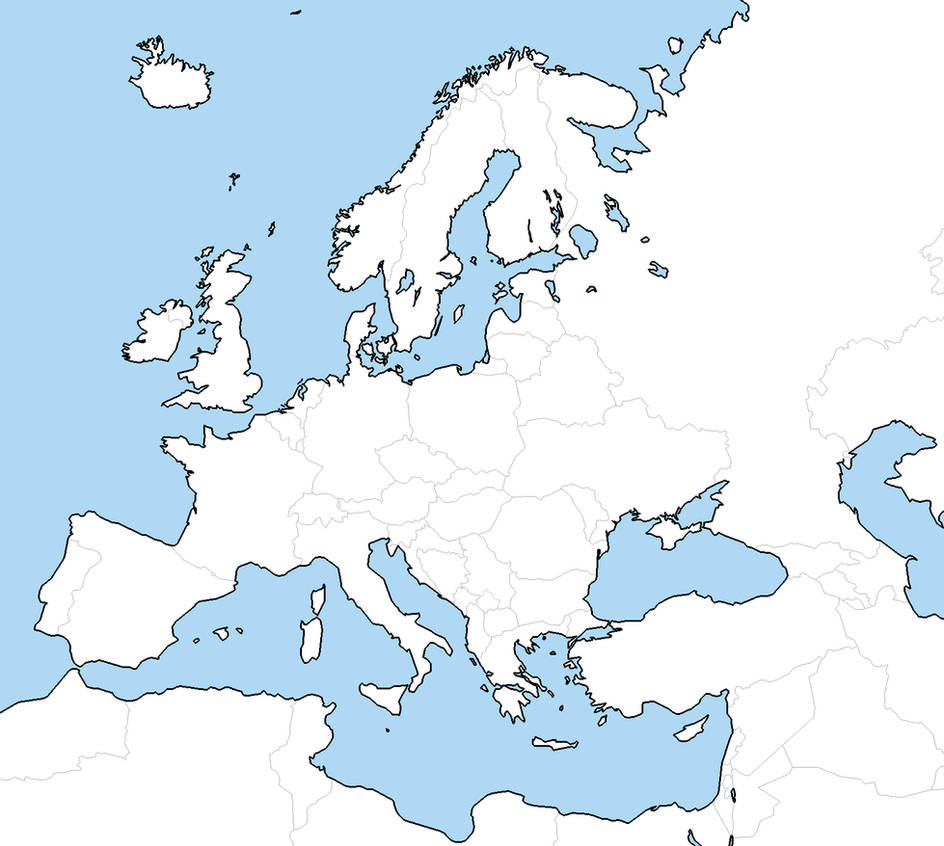 Blank Europe map by Neethis on DeviantArt
