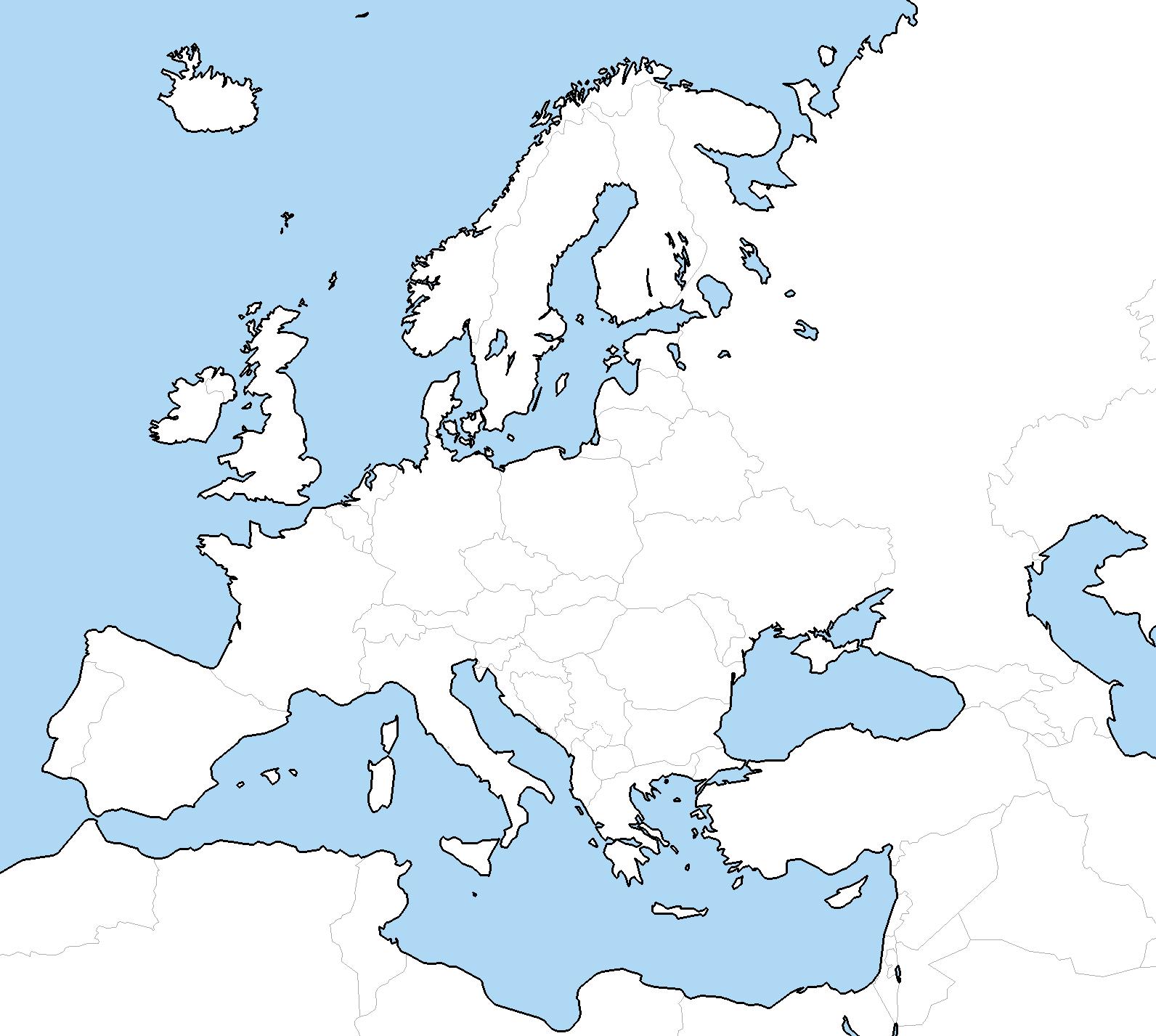 Blank Map Europe  My blog