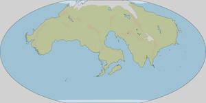 250MYF world map - terrain
