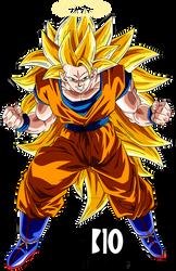 Goku SSJ3 DBZ Dokkan Battle Render by BillyZar