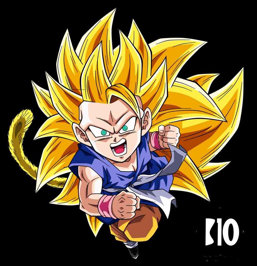 Kid Goku SSJ3 DBGT Dokkan Battle Render by BillyZar