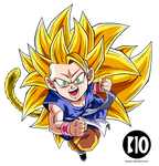 Kid Goku SSJ3 DBGT Dokkan Battle Render