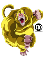 Ozaru Dorado DBGT Dokkan Battle Render by BillyZar