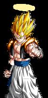 Super Gogeta DBZ Dokkan Battle Render by BillyZar