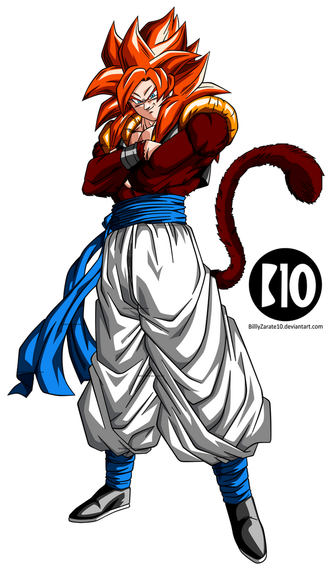 Gogeta SSJ4 DBGT Dokkan Battle Render by BillyZar