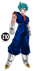 Vegetto SSJ Blue DBS Dokkan Battle Render by BillyZar