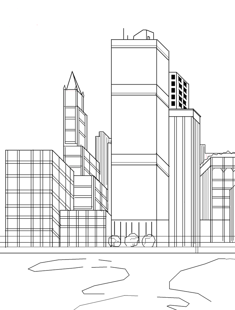 city skyline sketches - photo #11
