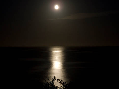 Full Moon over Cornwall.
