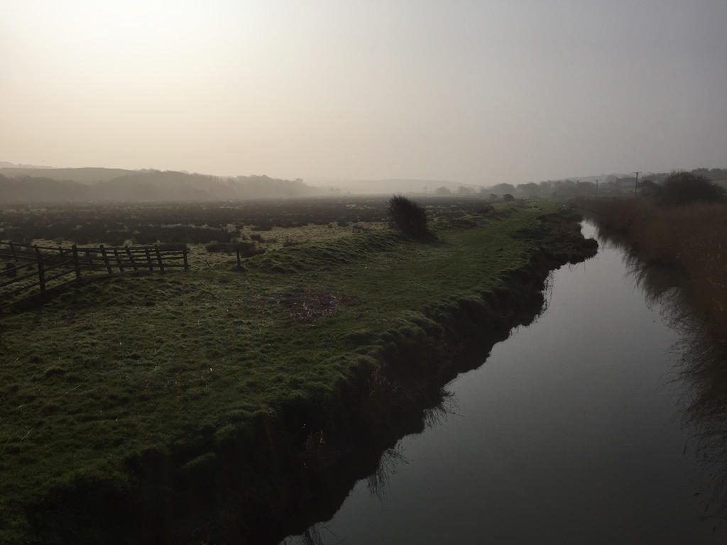 Bude Marshes - Partial Eclipse morning by avalonmoon13
