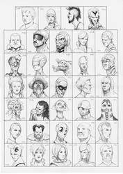 Heads 239-272 by one-thousand-heads