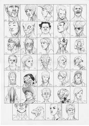 Heads 307-340 by one-thousand-heads