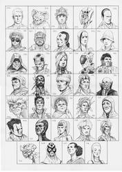 Heads 375-408 by one-thousand-heads