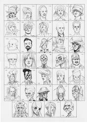 Heads 443-476 by one-thousand-heads