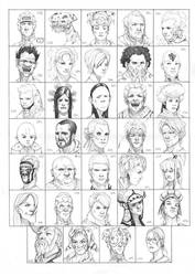 Heads 579-612 by one-thousand-heads