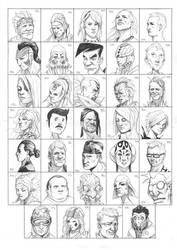 Heads 885-918 by one-thousand-heads