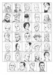 Heads 953-986 by one-thousand-heads