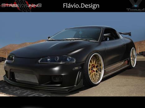 Mitsubishi Eclipse black matte
