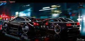 Nissan GT-R vs  Camaro by flaviobauck