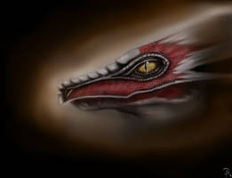 Posing Dragon (colored) by ADDaughtry