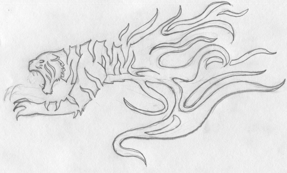 free hand tiger tattoo design concept by addaughtry on deviantart. Black Bedroom Furniture Sets. Home Design Ideas
