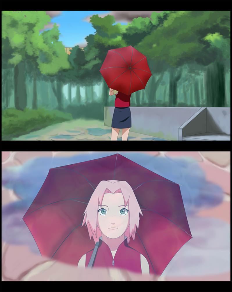 Sakura - After the rain by Martusia-Nina