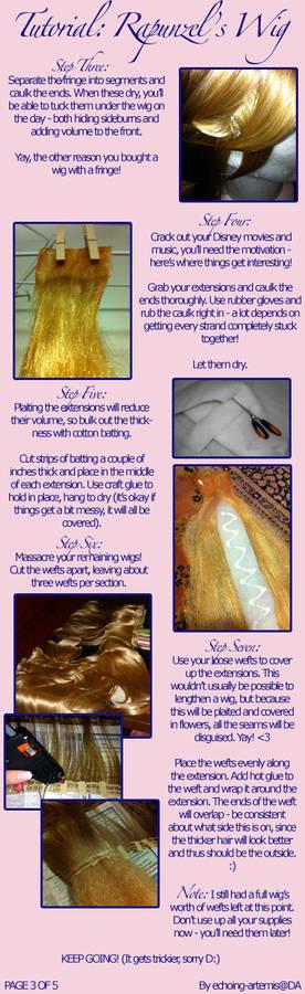Rapunzel's Wig Tutorial 3