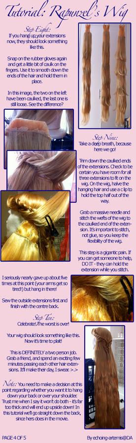 Rapunzel's Wig Tutorial 4