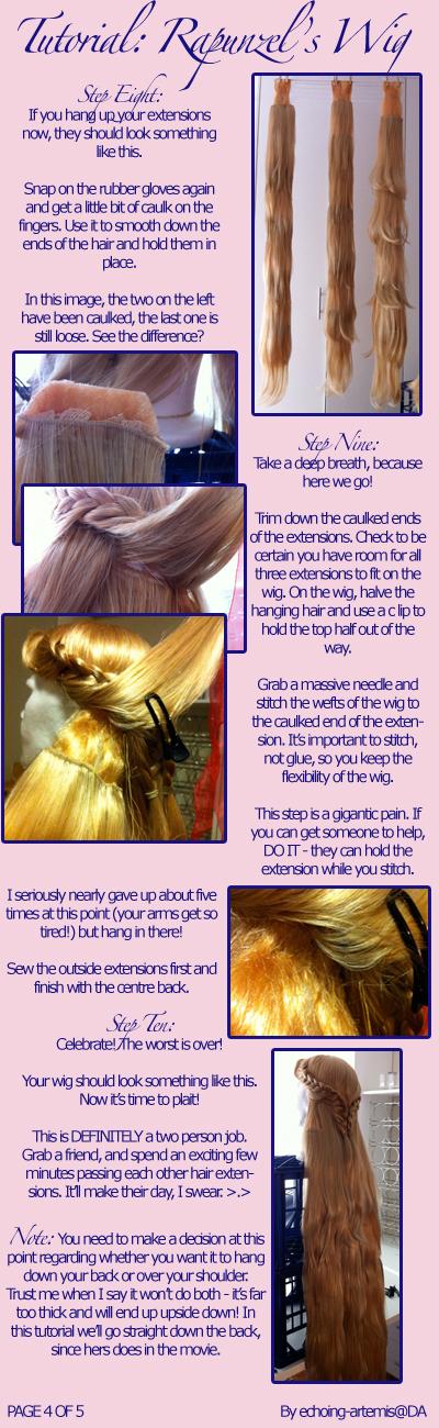Rapunzel's Wig Tutorial 4 by echoing-artemis