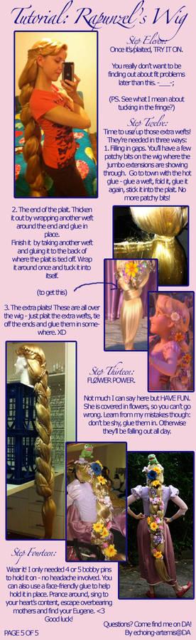 Rapunzel's Wig Tutorial 5