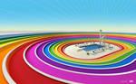 Colored stadium